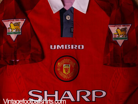 6f514538030 1996-98 Manchester United Home Shirt L for sale