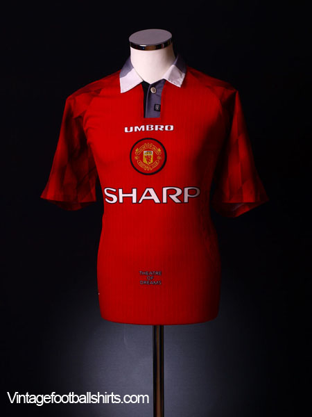 release date 7a3b4 794c9 1996-98 Manchester United Home Shirt L for sale