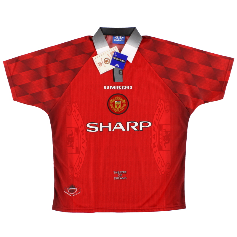 1996-98 Manchester United Umbro Home Shirt *w/tags* L