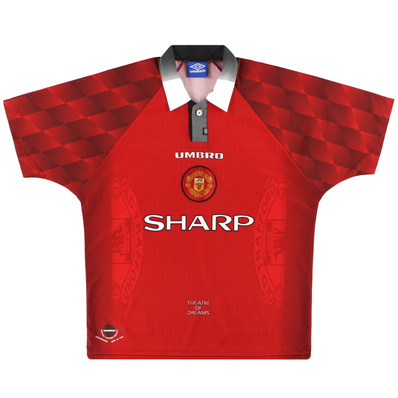 1996-98 Manchester United Umbro Home Shirt L - 734720