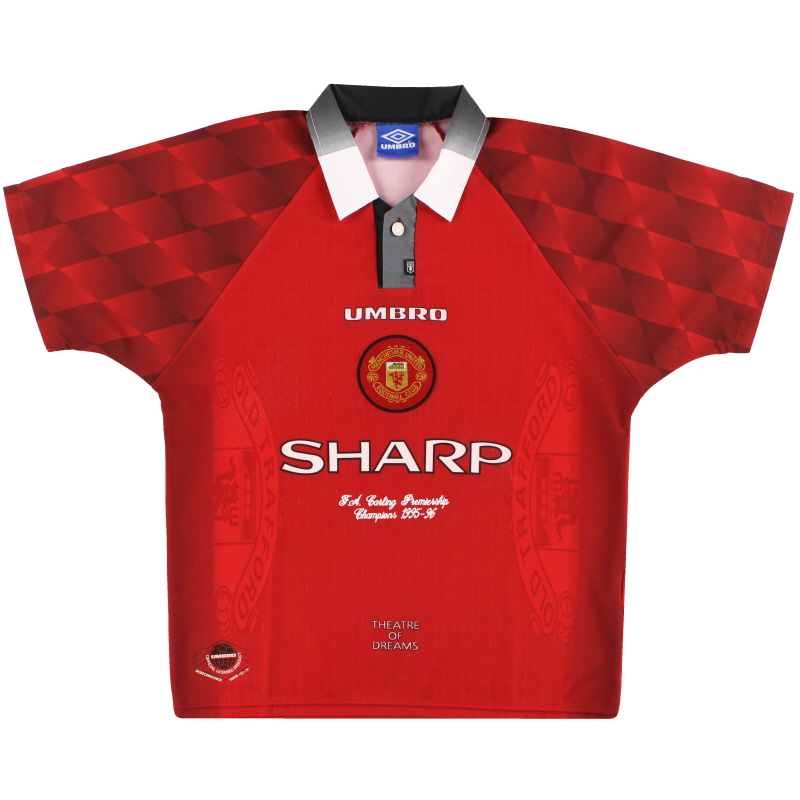 1996-98 Manchester United Umbro 'Premiership Champions' Home Shirt XL