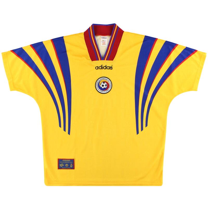 1996-98 Romania adidas Home Shirt L - 098157