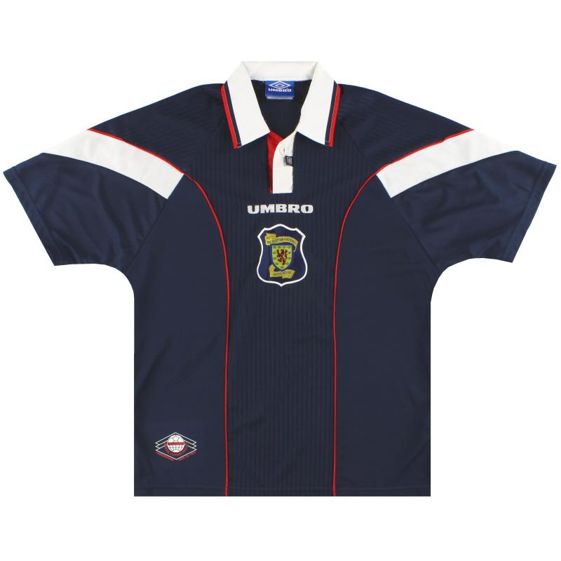 1996-98 Scotland Umbro Home Shirt L