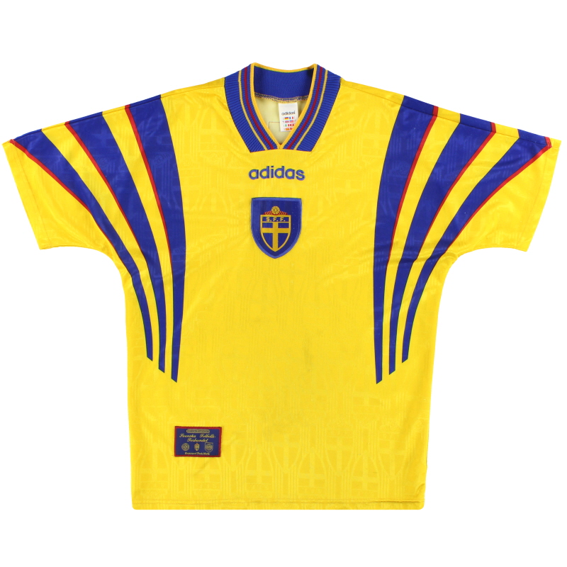 1996-98 Sweden adidas Home Shirt S
