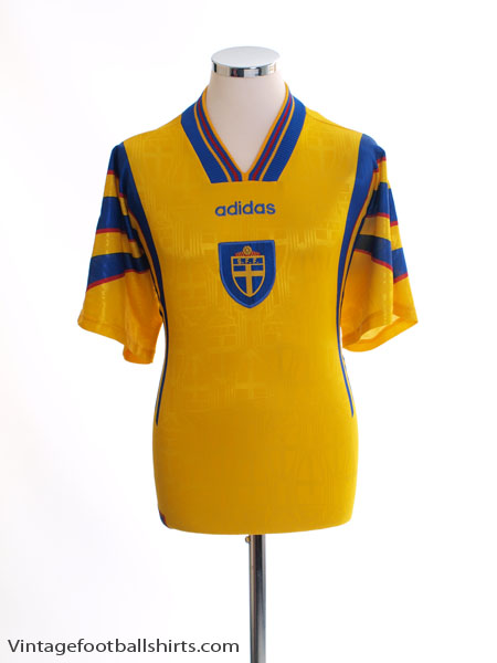 1996-98 Sweden Home Shirt L