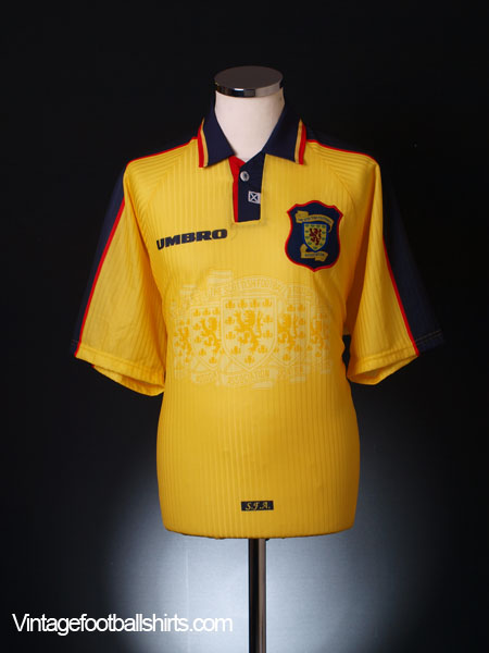 1996-99 Scotland Away Shirt L