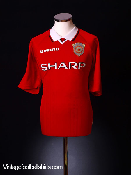 1997-00 Manchester United Champions League Shirt XXL