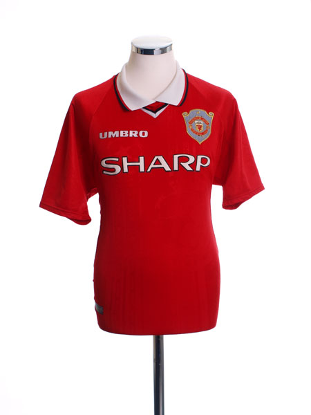 1997-00 Manchester United Champions League Shirt L