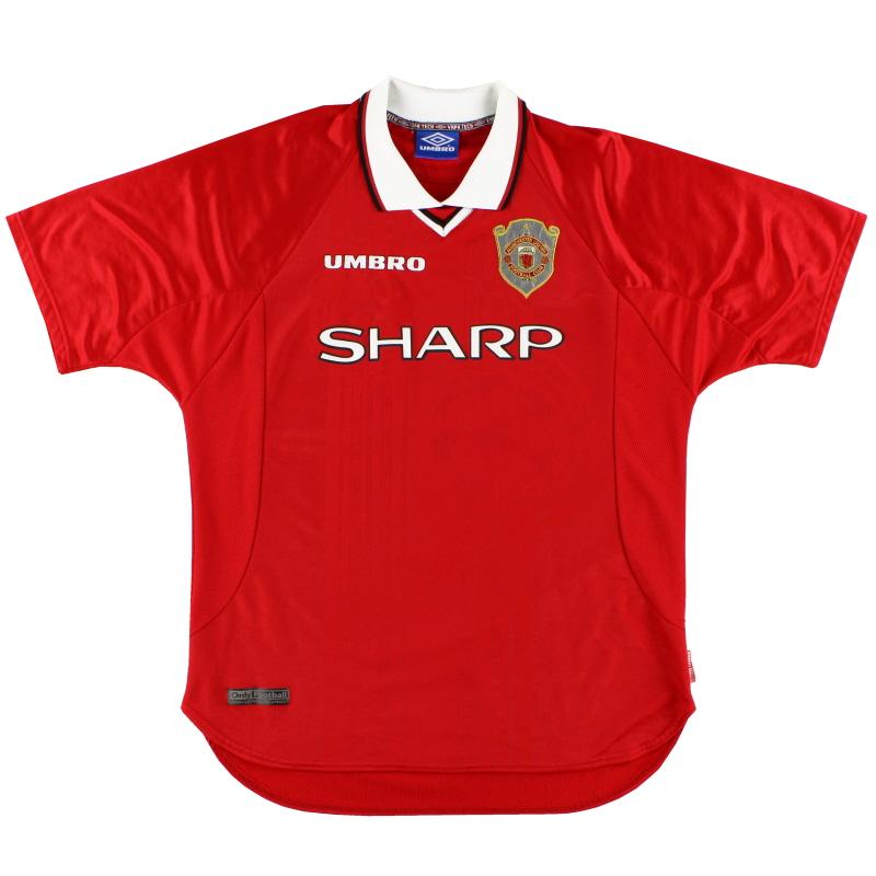 1997-00 Manchester United Umbro Champions League Home Shirt XL