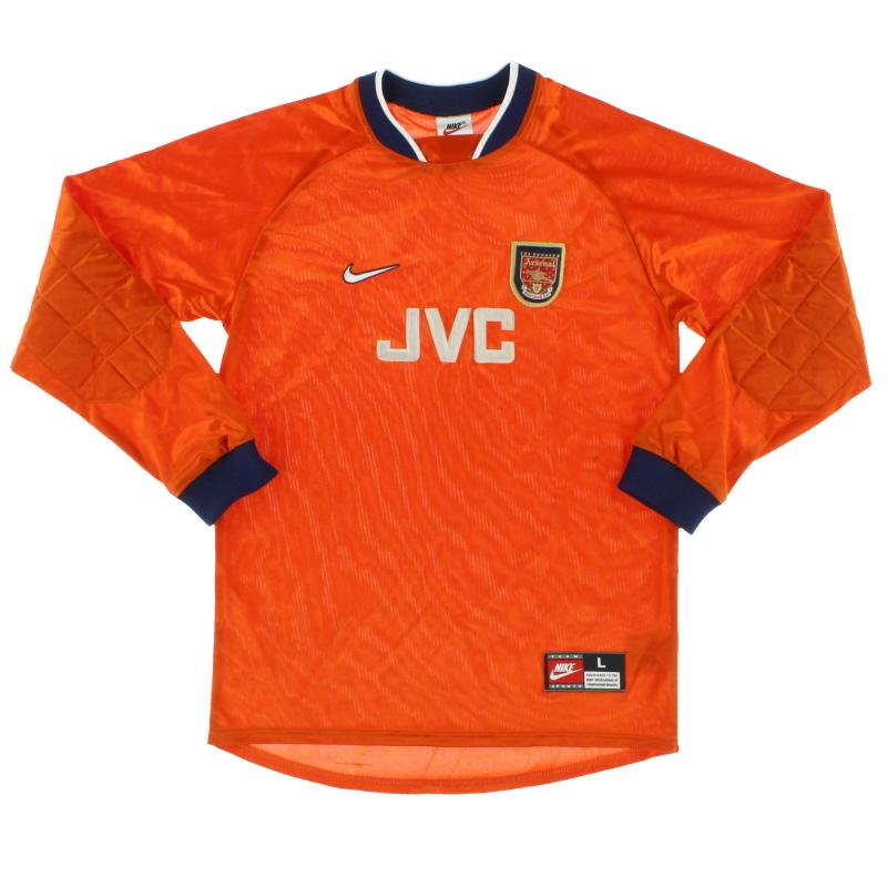 1997-98 Arsenal Goalkeeper Shirt L.Boys