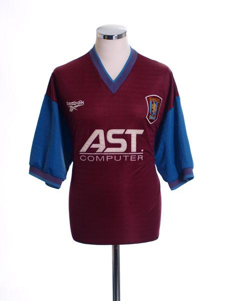1997-98 Aston Villa Home Shirt Collymore #11 L