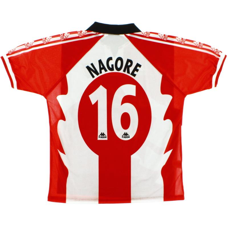 1997-98 Athletic Bilbao Centenary Home Shirt Nagore #16 *Mint* XL