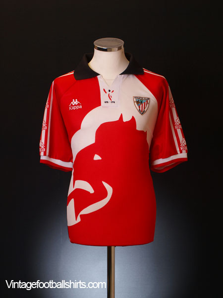 1997-98 Athletic Bilbao Centenary Home Shirt L