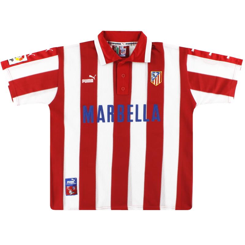 1997-98 Atletico Madrid Puma Home Shirt L