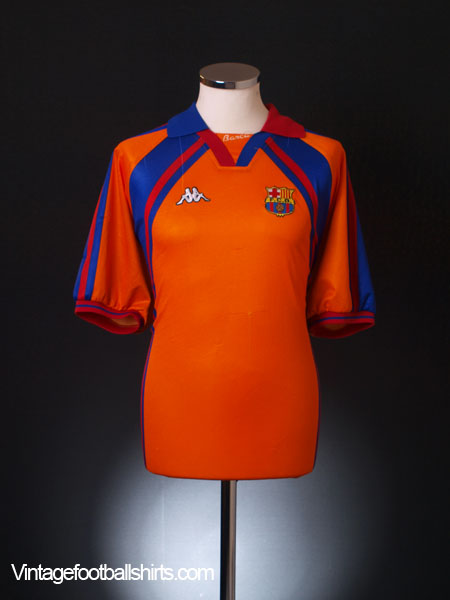 1997-98 Barcelona European Away Shirt XL