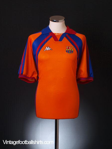 1997-98 Barcelona European Away Shirt *Mint* L