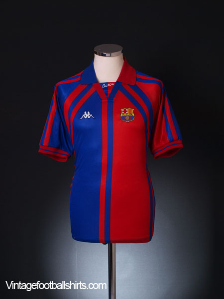1997-98 Barcelona European Home Shirt M