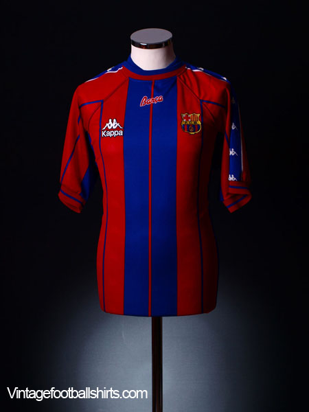 1997-98 Barcelona Home Shirt *Mint* L