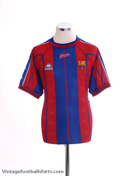 1997-98 Barcelona Home Shirt XL