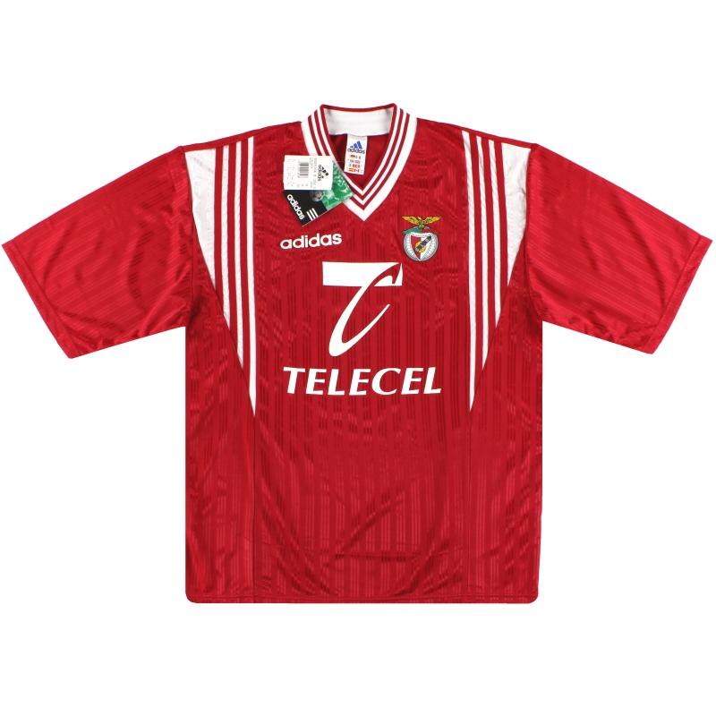 1997-98 Benfica adidas Basic Home Shirt Joao Pinto #8 *w/tags* L - 086296