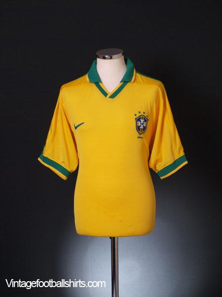 1997-98 Brazil Home Shirt L