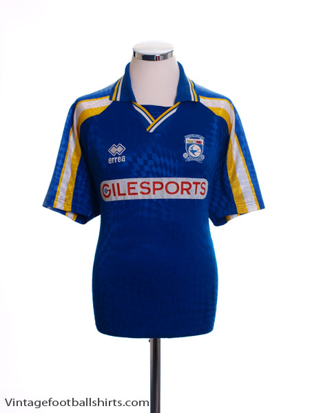 1997-98 Cardiff City Home Shirt M