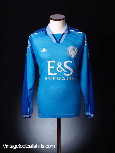 1997-98 Evagoras Paphos Match Issue Away Shirt #19 L/S XL