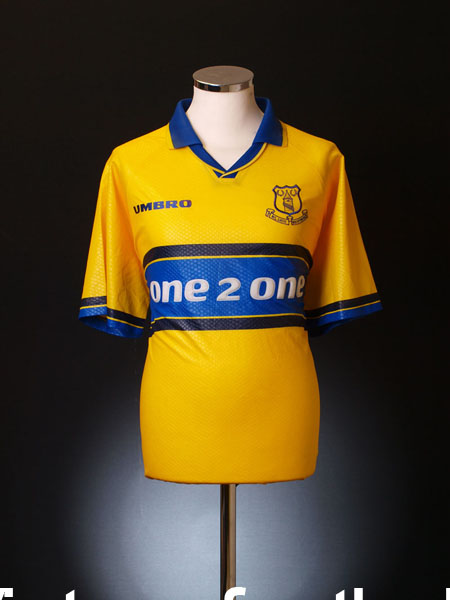 1997-98 Everton Prototype Sample Away Shirt *Mint* L