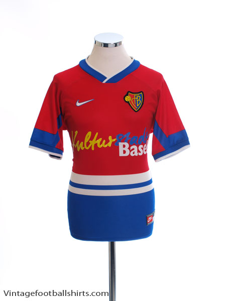 1997-98 FC Basel Home Shirt S