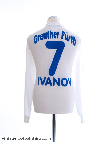 1997-98 Greuther Furth Away Shirt Ivanov #7 L/S XL