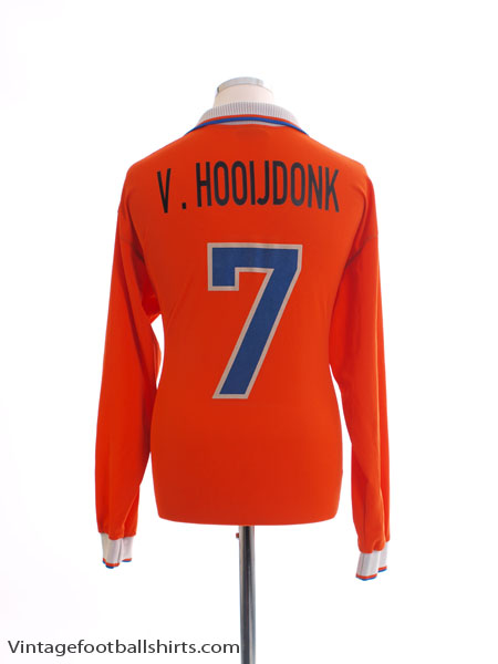 1997-98 Holland Home Shirt v.Hooijdonk #7 L/S XL