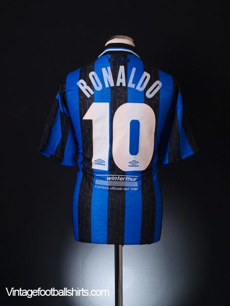 a52252ca1ef 1997-98 Inter Milan Home Shirt Ronaldo  10 L for sale