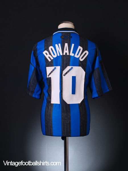 1997-98 Inter Milan Home Shirt Ronaldo #10 XL