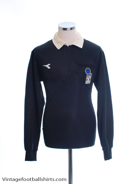 1997-98 Italy FIGC Referee Shirt M