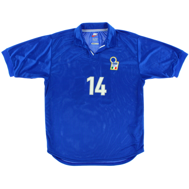 1997-98 Italy Match Issue Home Shirt #14 L
