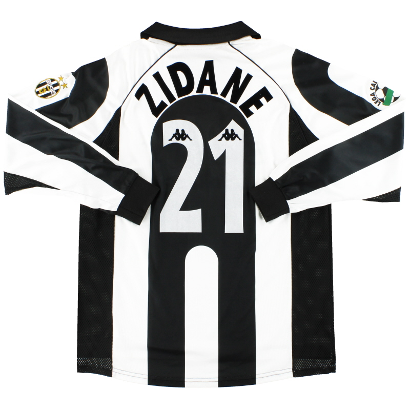 1997 98 Juventus Kappa Centenary Home Shirt Zidane 21 L S Xl For Sale