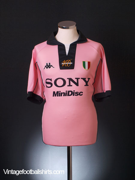 1997-98 Juventus Pink Centenary Away Shirt L