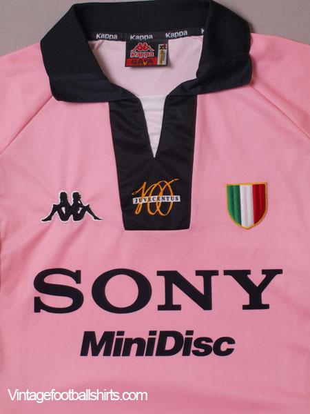 pretty nice 4e95c 5335b 1997-98 Juventus Pink Centenary Away Shirt L for sale