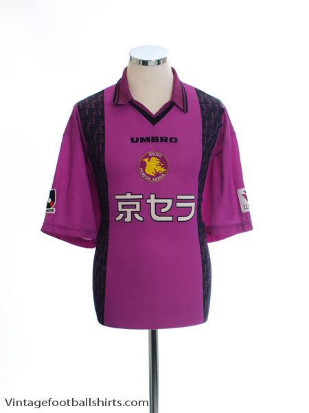 1997-98 Kyoto Purple Sanga Home Shirt *Mint* XL