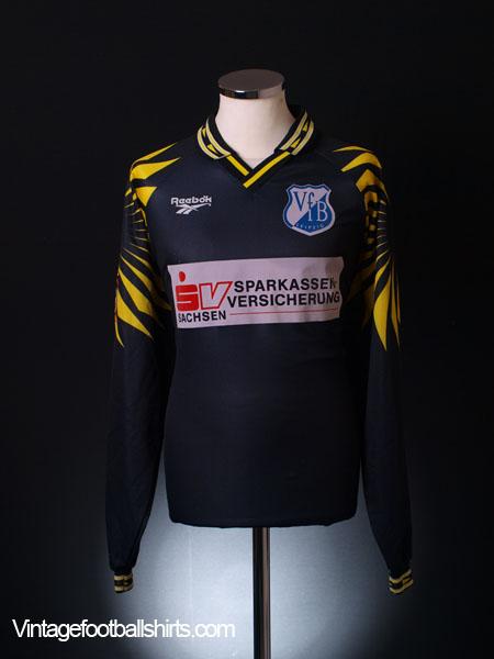 1997-98 Leipzig II Match Issue Third Shirt Franklin #9 L/S XXL