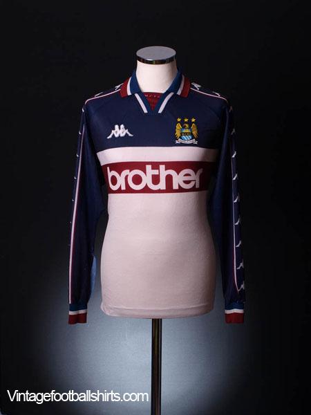1997-98 Manchester City Away Shirt L/S XL