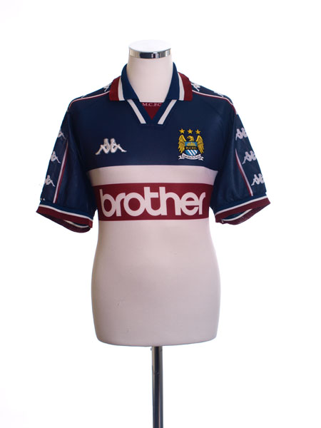 1997-98 Manchester City Away Shirt L
