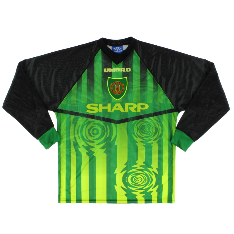 the latest 3cdde 69350 1997-98 Manchester United Goalkeeper Shirt Y for sale