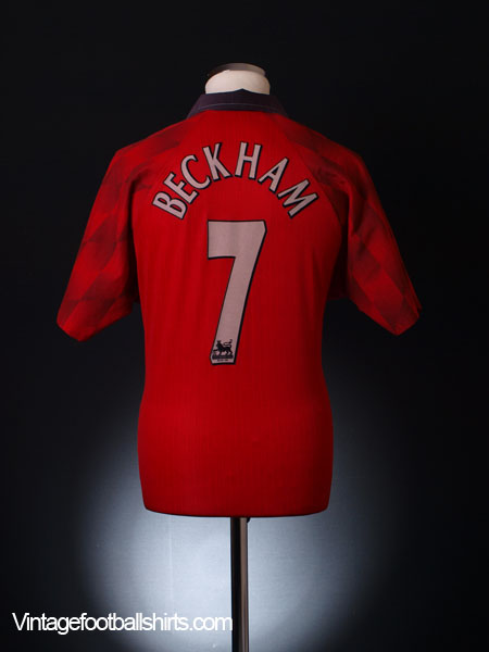 d6cd7cf553c 1997-98 Manchester United Home Shirt Beckham  7 M for sale