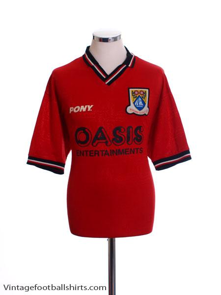 1997-98 Morecambe Home Shirt L