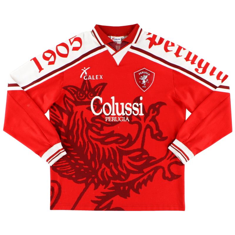 1997-98 Perugia Match Issue Home Shirt Rapajc #11 L/S M