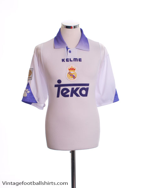 1997-98 Real Madrid Home Shirt L