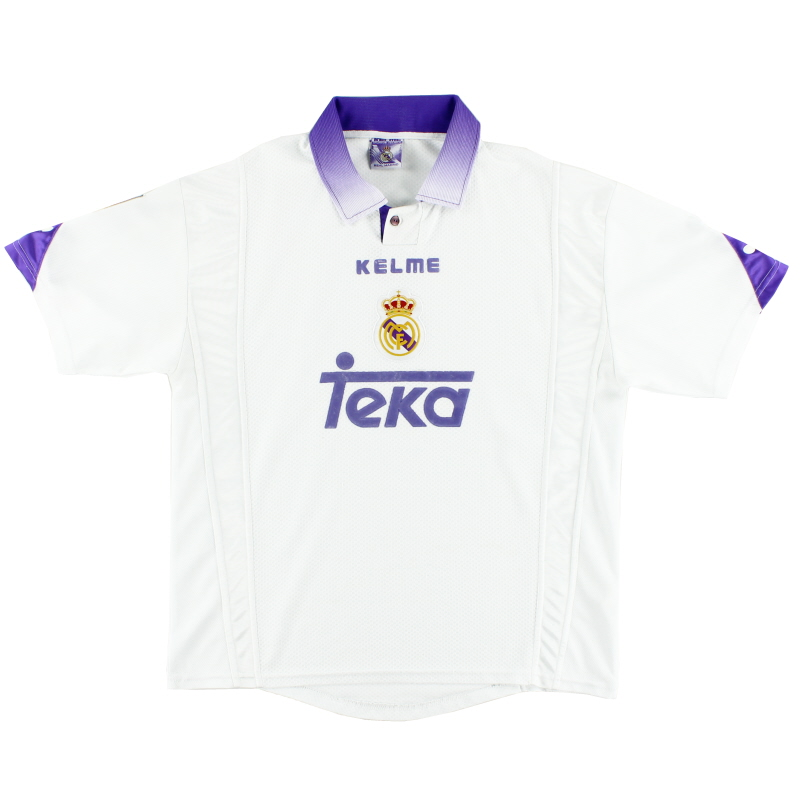 1997-98 Real Madrid Home Shirt *w/tags* S - 96499