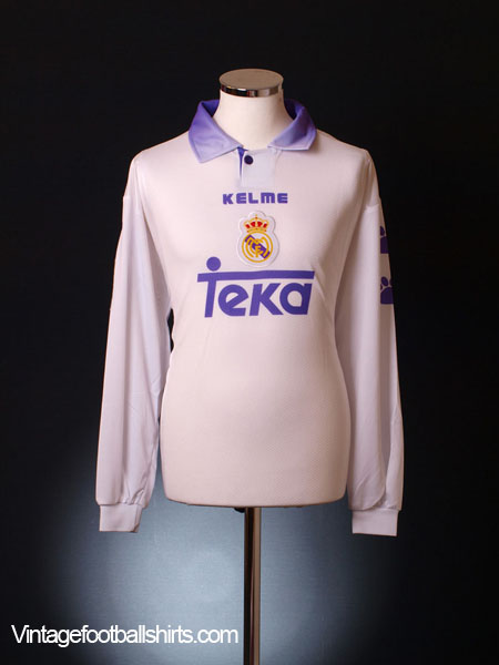 1997-98 Real Madrid Match Issue Home Shirt Petkovic #20 L/S XL