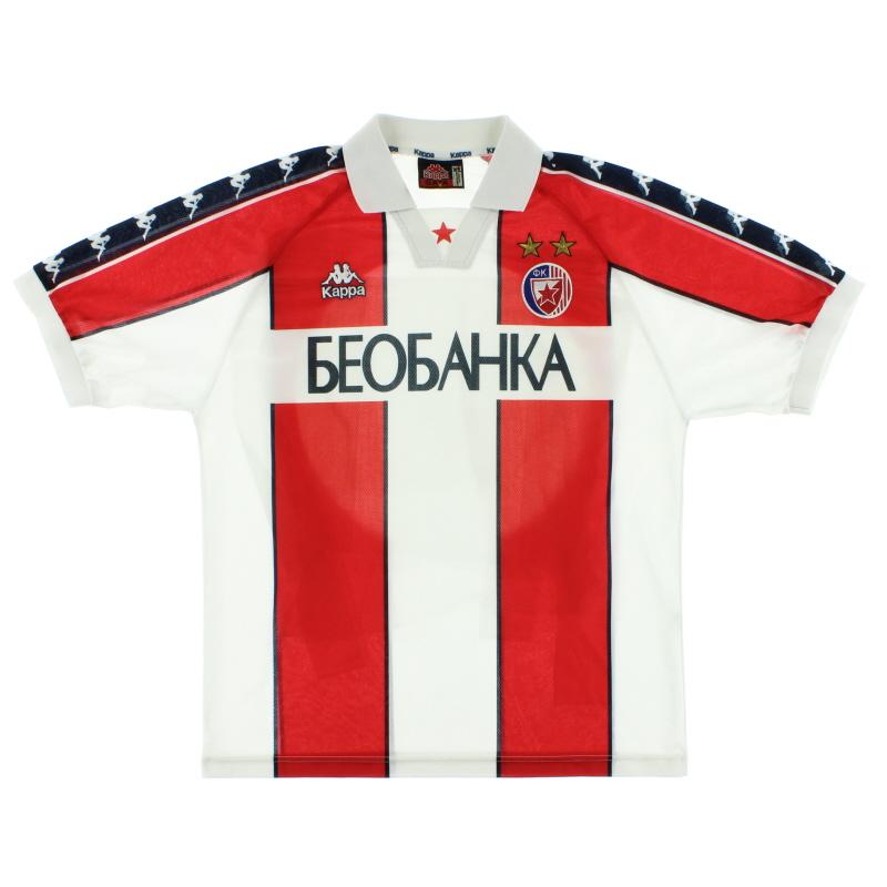 1997-98 Red Star Belgrade Home Shirt *Mint* XL